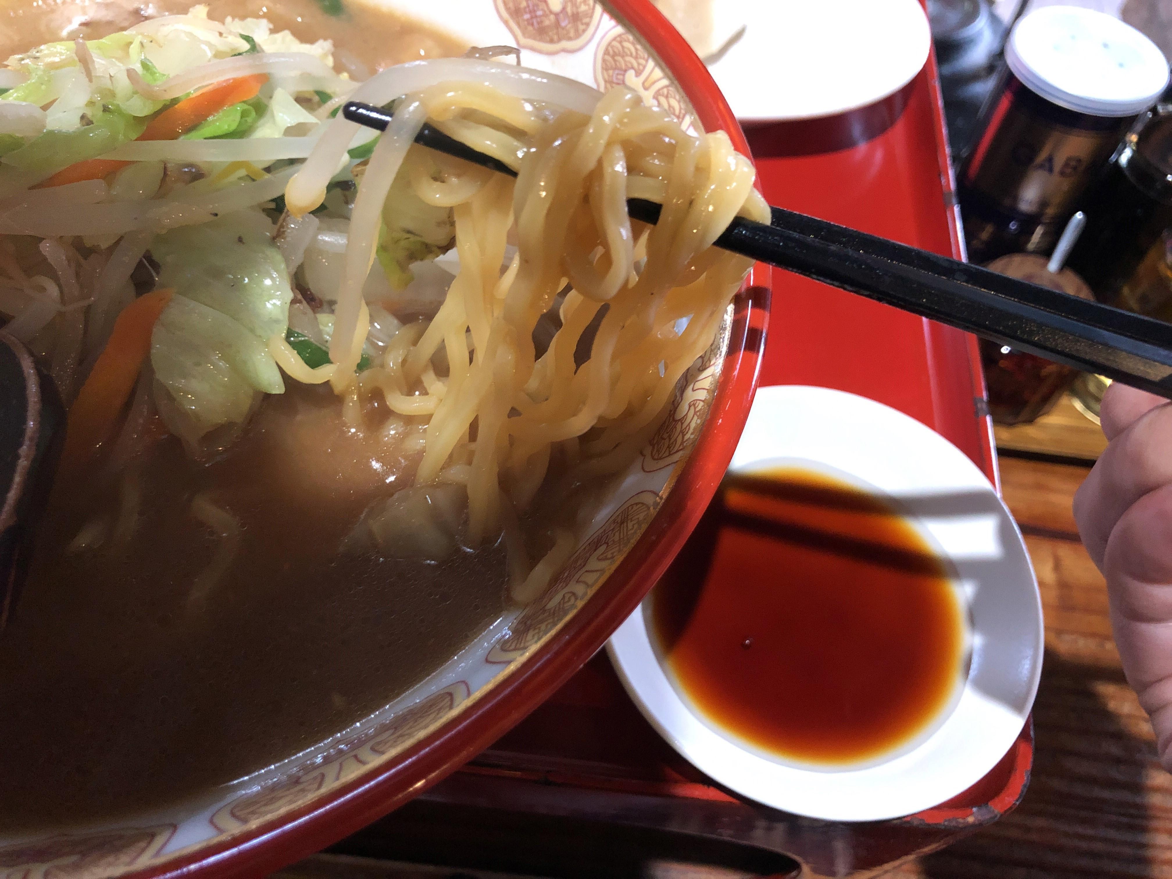 宇都宮の味噌ラーメンの名店右京、古民家風の店内で頂く完熟味噌ラーメンは野菜たっぷりの絶品ラーメンだった