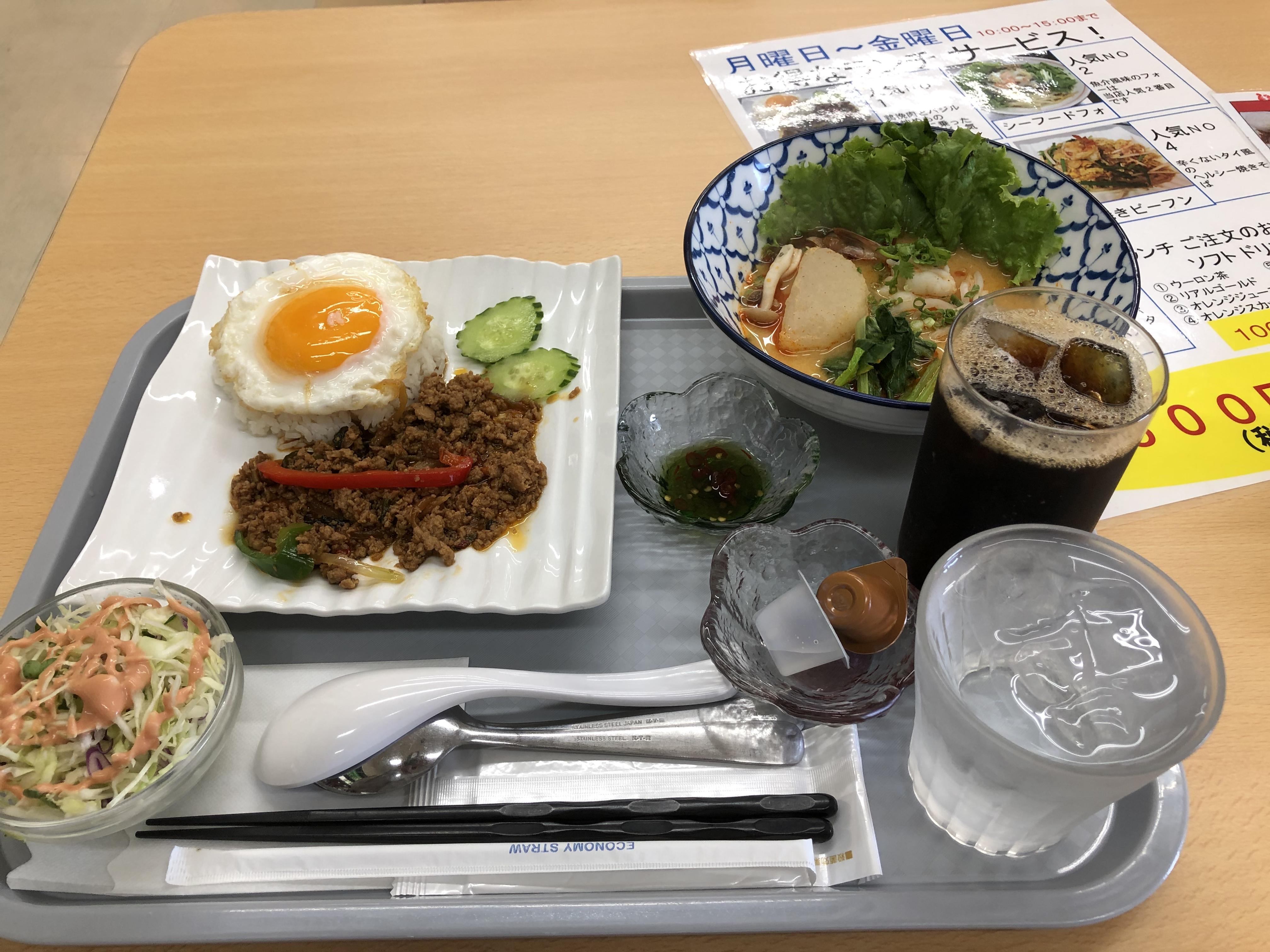 ビバモール鹿沼店内にあるアジアンフュージョン料理ナイエムで現地の人が作るガパオライスとトムヤンクンラーメンを堪能してきた