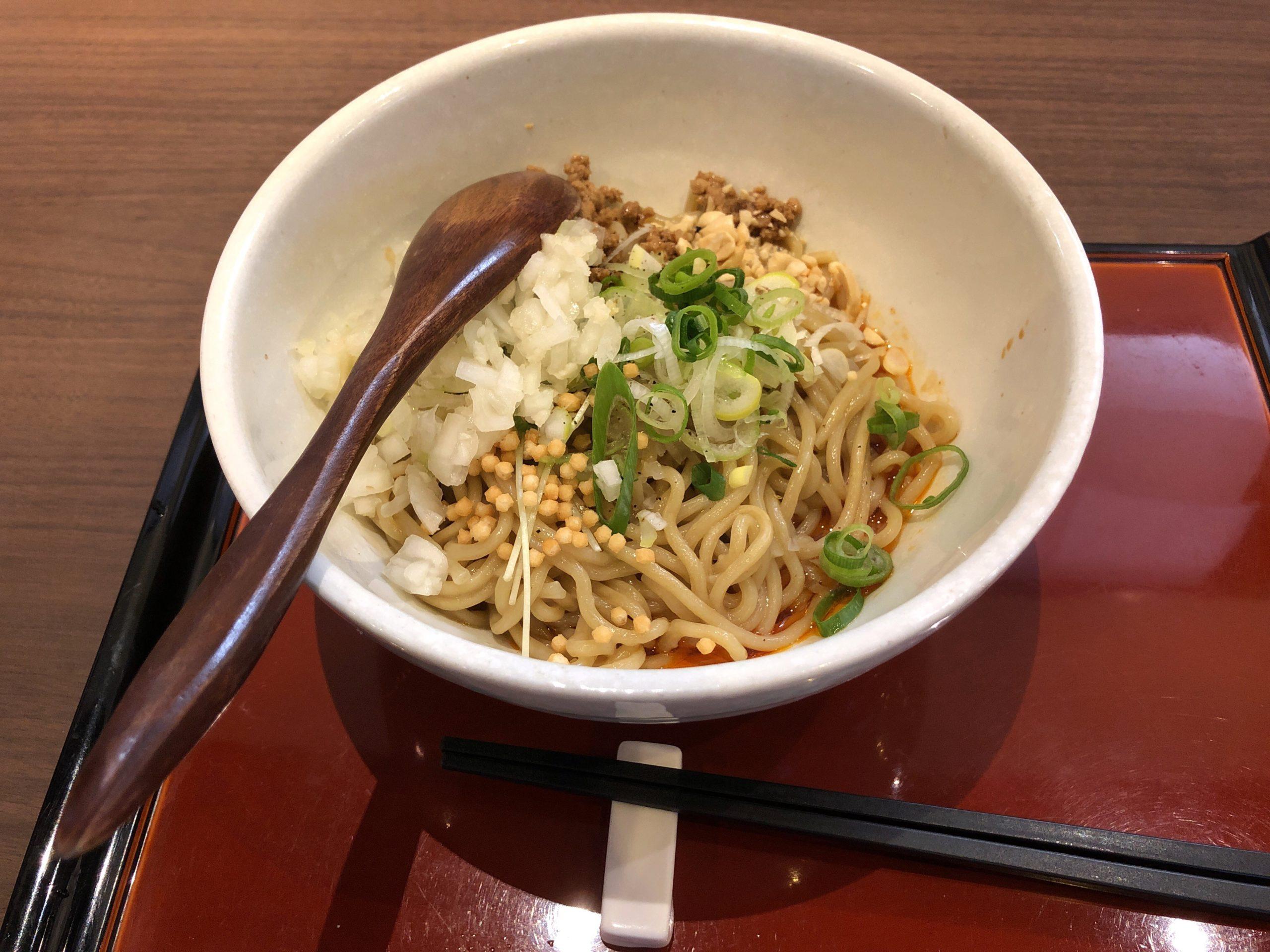 西川田方面にリニューアルオープンした担々麺専門店「發巳」に再訪問、正宗担々麺と發巳汁なし担々麺との違いを比べてみました