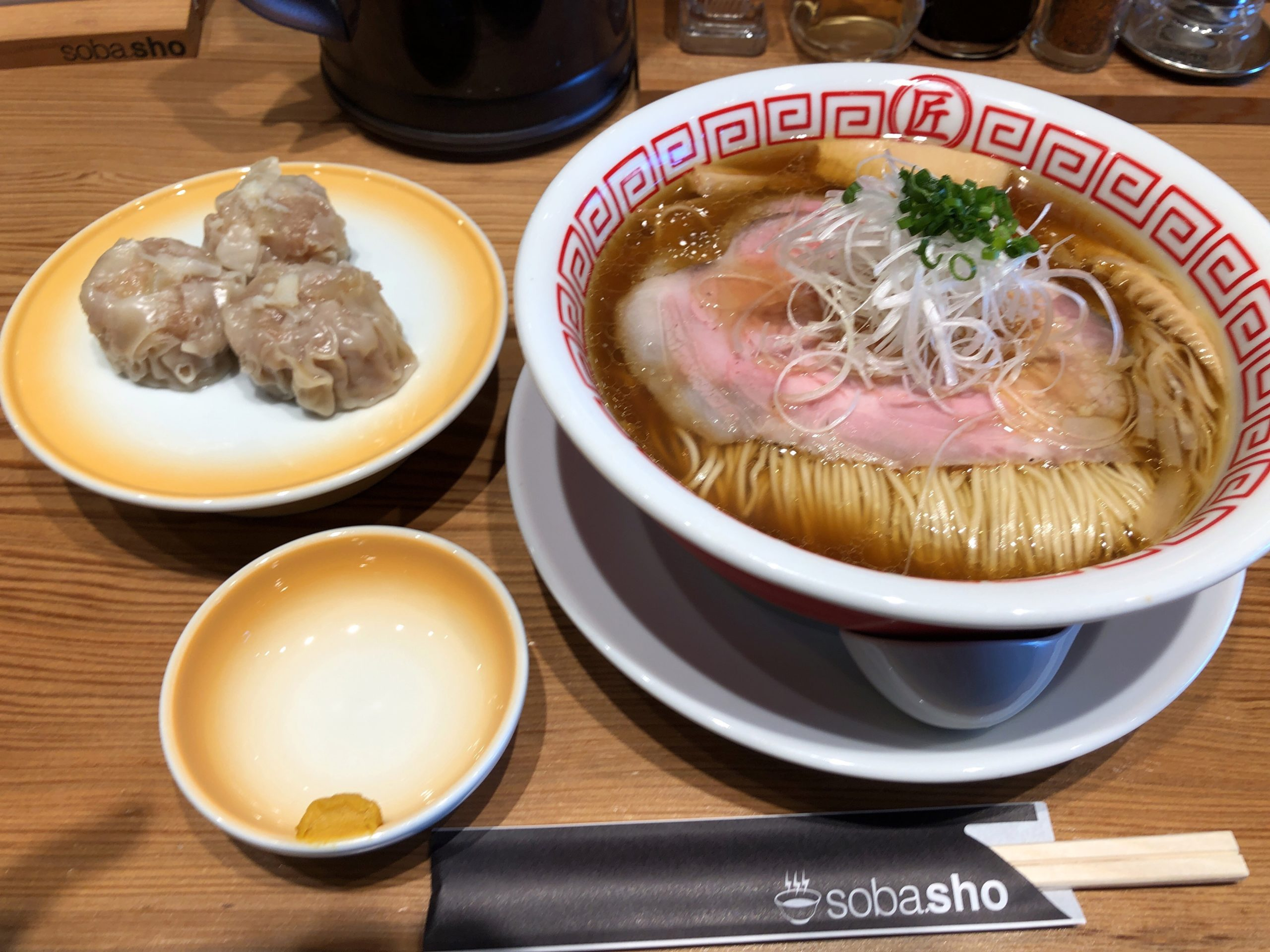 鹿沼インターから車で2分「soba.sho(そばしょう)」まるで日本料亭のようなオシャレなお店で頂く王道醤油ラーメン