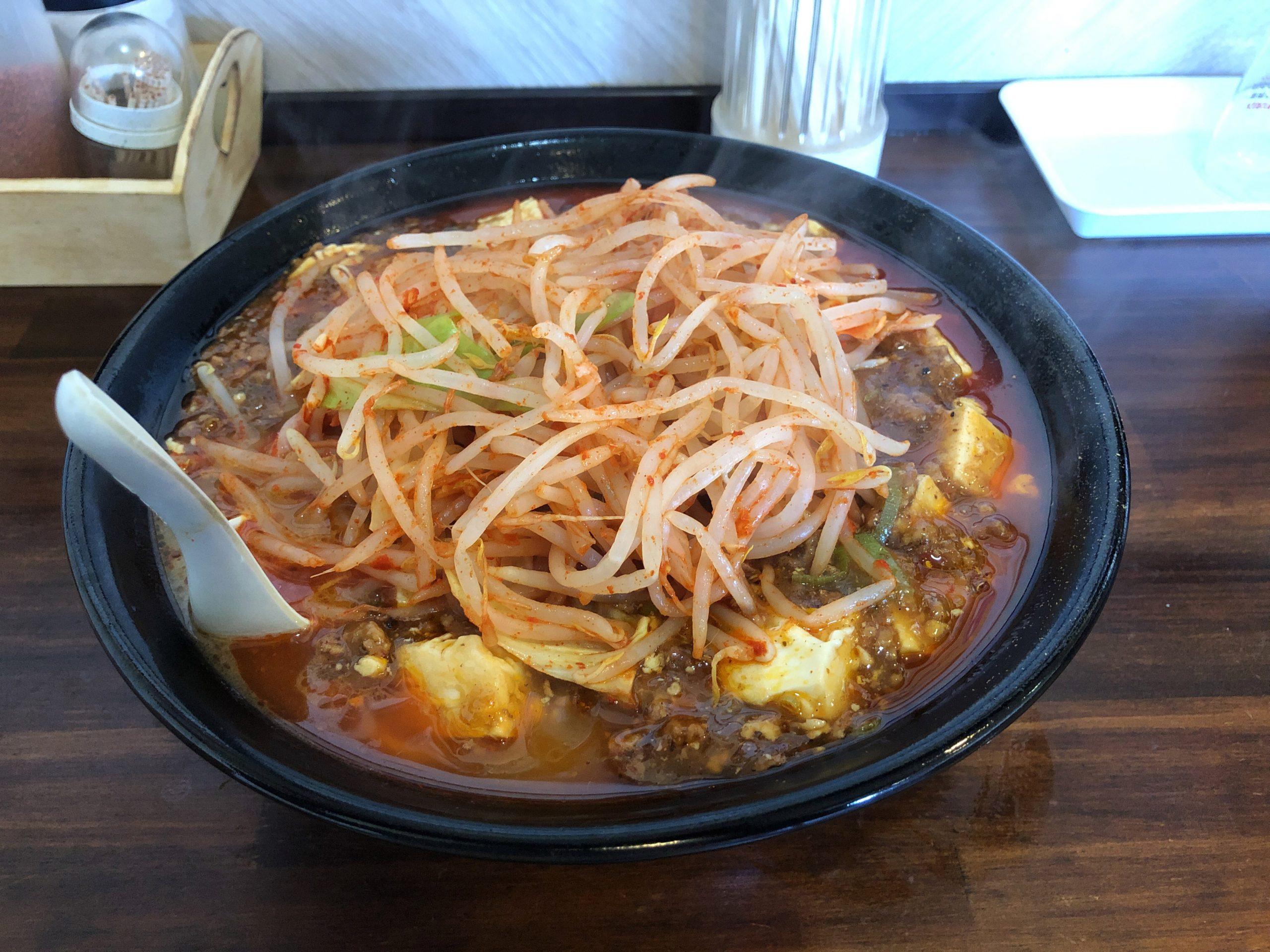 鹿沼環状線沿い、G系ラーメンが頂けるお店「中華そば伸」、新メニューのG系麻婆麺を食べてきた