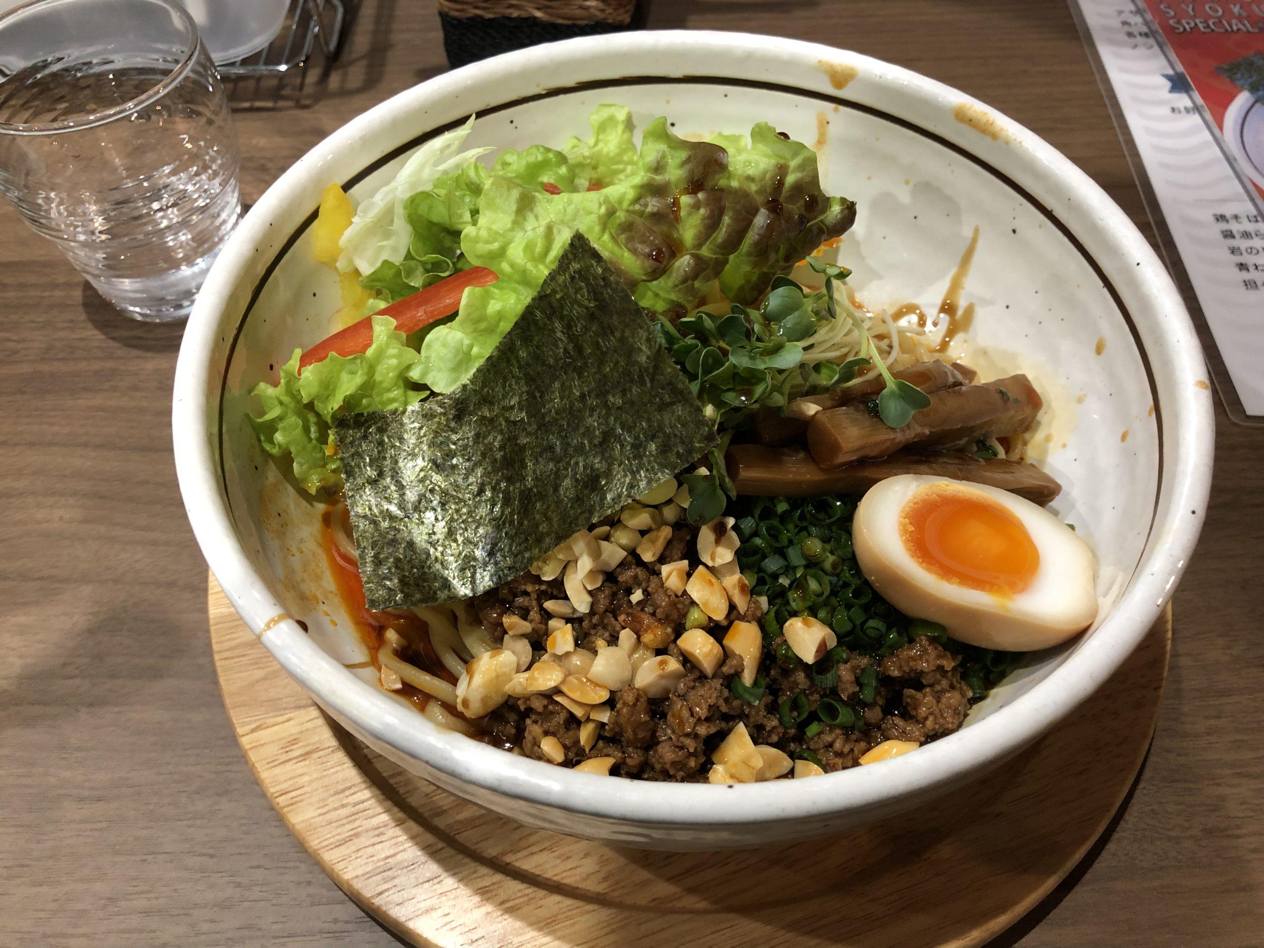 12月20日に白沢街道沿いで復活を遂げたタムラ食堂に初訪問、夜の部限定の汁なし担々麺を食べてきた