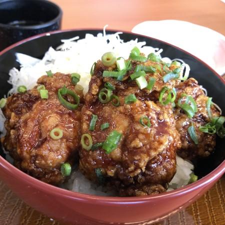 2月26日に鶴田方面でオープンした唐揚げ専門店「から好し」に行ってきた 甘しょっぱいタレに漬けこまれた特大サイズの唐揚げが乘った「甘とろダレ丼」