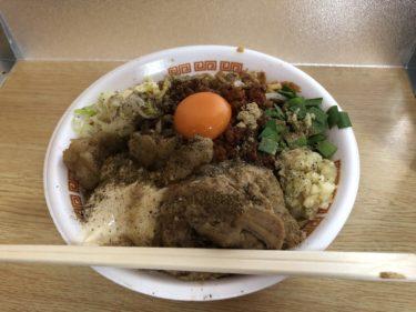 土日のお昼限定「村岡屋」さんの台湾まぜそばを初体験! 相変わらずの高クオリティ、超極太のゴワムチ麺にお箸を持つ手が止まらない