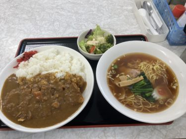 宇都宮鶴田町「若山食堂」再び ボリューム満点チキンカツカレーセットでお腹一杯