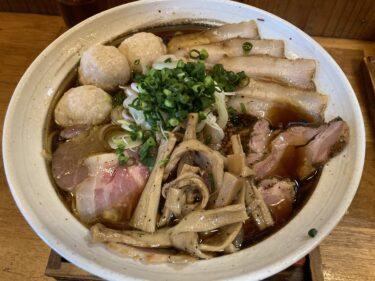 「麺栞みかさ」再び 焦がし醤油ラーメン&宇和島風鯛めしをたべてきた